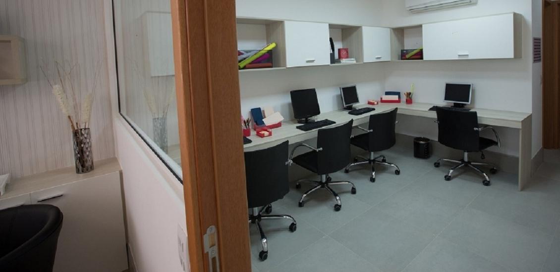 Sala Decorada - Ventura Office - Salas Comerciais em Laranjeiras  Serra ES
