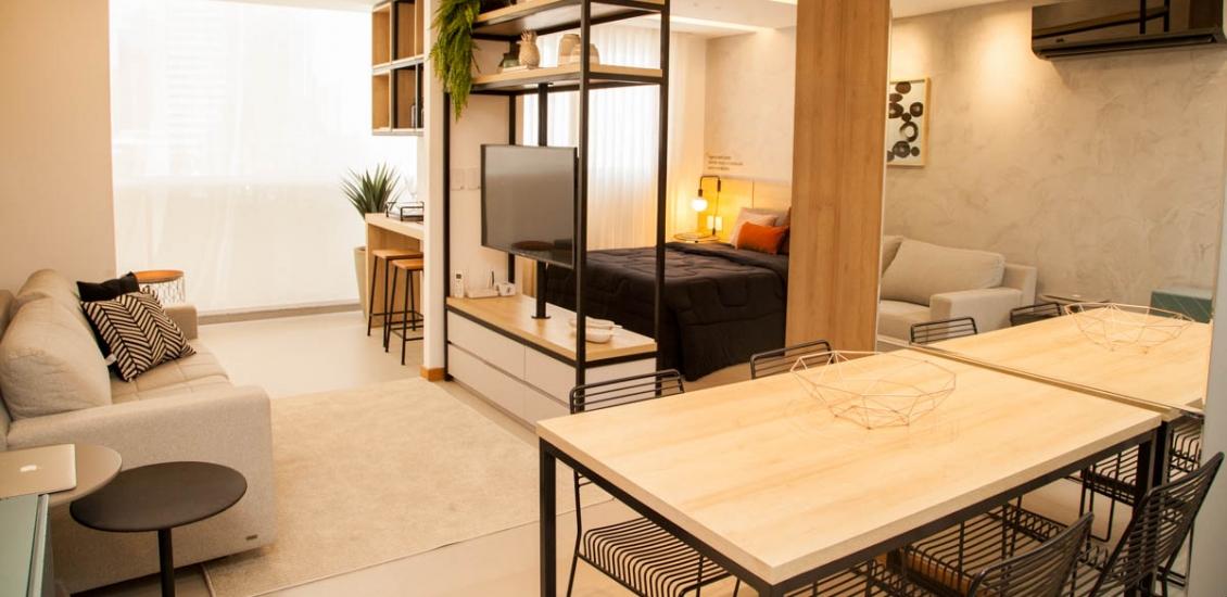 Vogue Enseada - Foto Apartamento Decorado 1 quarto