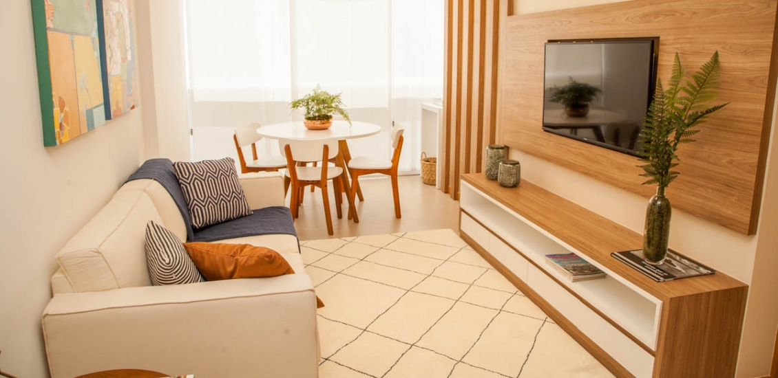 Apartamento decorado - Sala de estar