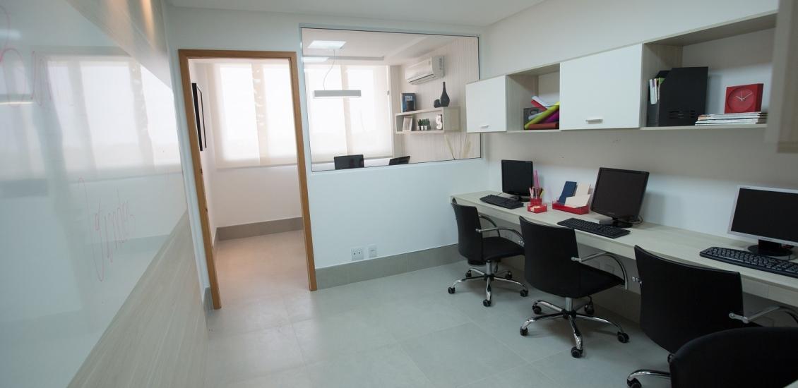 Sala Decorado - Ventura Office - Salas Comerciais em Laranjeiras  Serra ES
